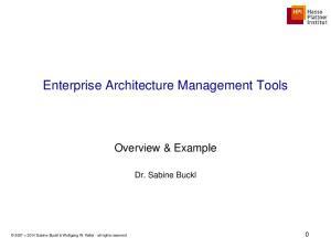 Enterprise Architecture Management Tools