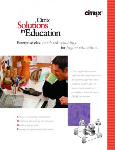 Enterprise-class reach and reliability for higher education