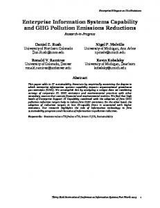 Enterprise Information Systems Capability and GHG Pollution Emissions Reductions