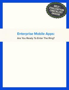 Enterprise Mobile Apps: Are You Ready To Enter The Ring?