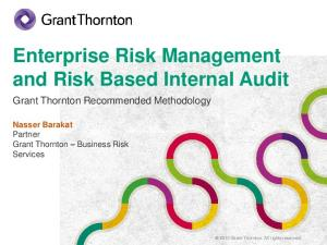 Enterprise Risk Management and Risk Based Internal Audit