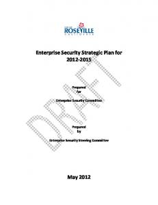 Enterprise Security Strategic Plan for