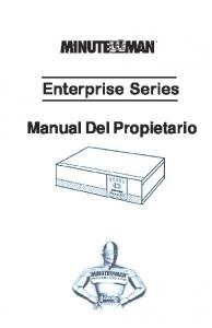 Enterprise Series. Manual Del Propietario
