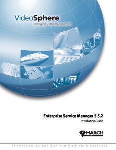 Enterprise Service Manager Installation Guide