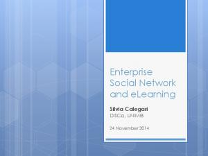 Enterprise Social Network and elearning