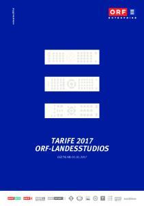 enterprise.orf.at TARIFE 2017 ORF-LANDESSTUDIOS