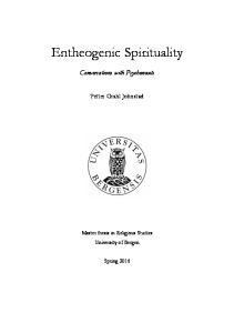 Entheogenic Spirituality