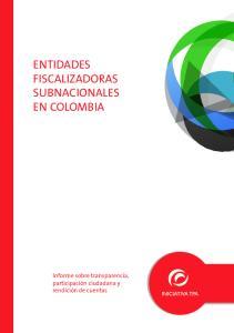 ENTIDADES FISCALIZADORAS SUBNACIONALES EN COLOMBIA