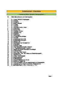 Entleihschein - Checkliste
