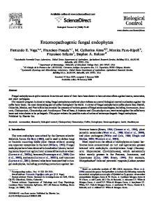 Entomopathogenic fungal endophytes