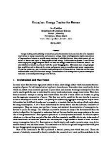 Entracker: Energy Tracker for Homes
