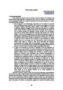 Entre cartas y poemas JOSÉ COLOMA MAESTRE Universidad de Murcia
