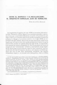 ENTRE EL BARROCO Y EL NEOCLASICISMO: