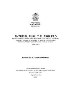 ENTRE EL FUSIL Y EL TABLERO