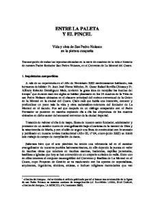 ENTRE LA PALETA Y EL PINCEL
