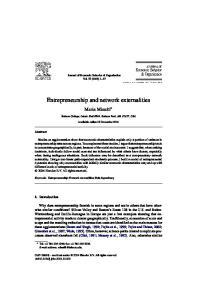 Entrepreneurship and network externalities
