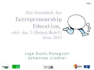 Entrepreneurship Education,