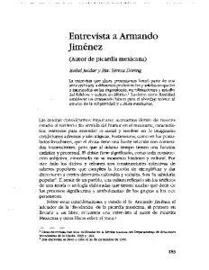 Entrevista a Armando Jimenez