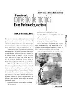 Entrevista a Elena Poniatowska