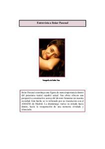 Entrevista a Itziar Pascual