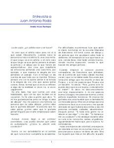 Entrevista a Juan Antonio Roda