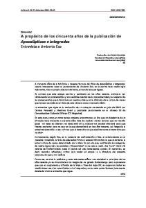 Entrevista a Umberto Eco