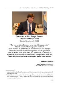 Entrevista al Lic. Diego Bossio* Interview with Diego Bossio