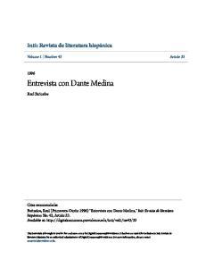 Entrevista con Dante Medina