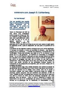 ENTREVISTA CON: Joseph D. Lichtenberg