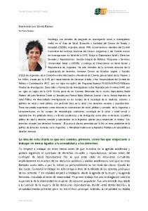 Entrevista con Silvina Ramos
