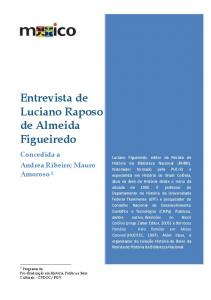 Entrevista de Luciano Raposo de Almeida Figueiredo