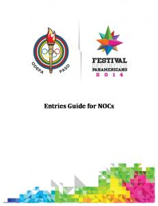Entries Guide for NOCs
