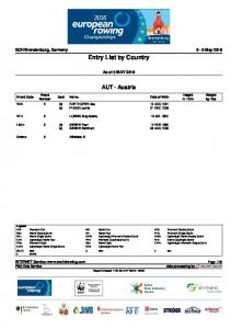 Entry List by Country