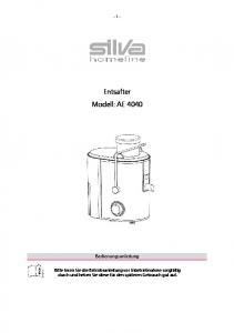 Entsafter Modell: AE 4040