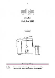 Entsafter Modell: AE 6080