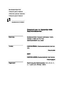 Entscheid vom 15. September 2006 Beschwerdekammer