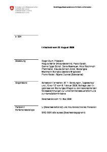 Entscheid vom 22. August 2008