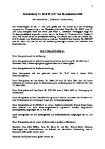 Entscheidung Nr QPC vom 16. September 2010
