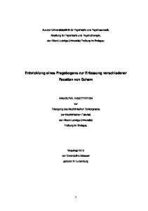 Entwicklung eines Fragebogens zur Erfassung verschiedener Facetten von Scham