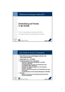 Entwicklung und Trends in der Aviatik
