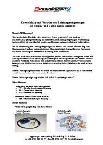 Entwicklung und Vertrieb von Leistungssteigerungen an Benzin- und Turbo-Diesel-Motoren