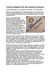 Entwicklungsgeschichte des Bierglasuntersetzers