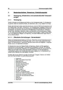 Entwicklungsziele. 3.1 Versorgung, Infrastruktur und soziostrukturelle Voraussetzungen