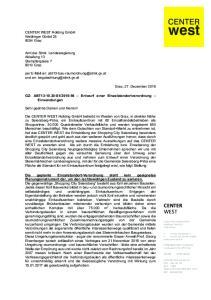 Entwurf einer Einzelstandortverordnung Einwendungen