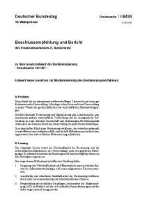 Entwurf eines Gesetzes zur Modernisierung des Besteuerungsverfahrens