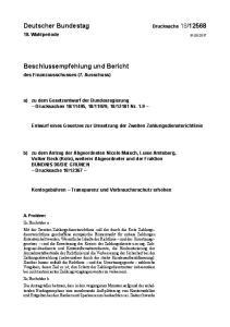 Entwurf eines Gesetzes zur Umsetzung der Zweiten Zahlungsdiensterichtlinie
