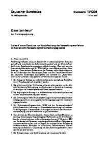 Entwurf eines Gesetzes zur Vereinfachung der Verwaltungsverfahren im Sozialrecht (Verwaltungsvereinfachungsgesetz)