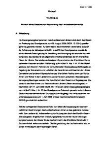 Entwurf. V o r b l a t t. Entwurf eines Gesetzes zur Neuordnung des Landesbeamtenrechts