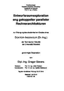 Entwurfsraumexploration eng gekoppelter paralleler Rechnerarchitekturen