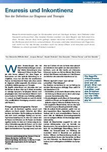 Enuresis und Inkontinenz Von der Definition zur Diagnose und Therapie